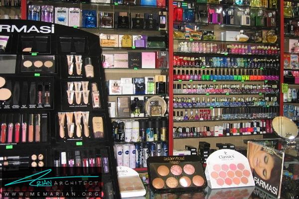 طراحی دکوراسیون مغازه لوازم آرایشی بهداشتی (2)