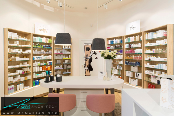طراحی دکوراسیون داخلی فروشگاه آرایشی و بهداشتی (1)