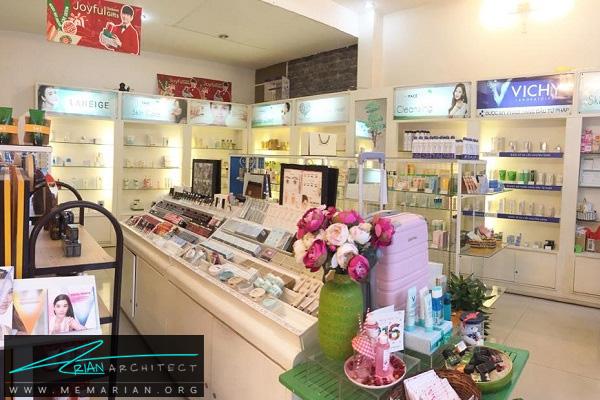 دکوراسیون داخلی فروشگاه آرایشی بهداشتی (2)