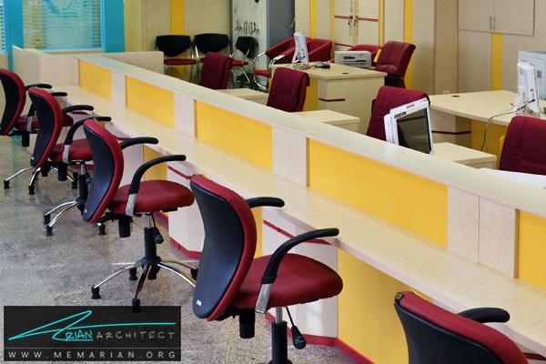 دکوراسیون و معماری داخلی بانک (2) - طراحی داخلی شعبه بانک