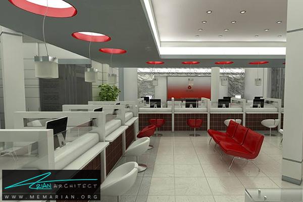 طراحی دکوراسیون داخلی بانک (2) - طراحی داخلی شعبه بانک