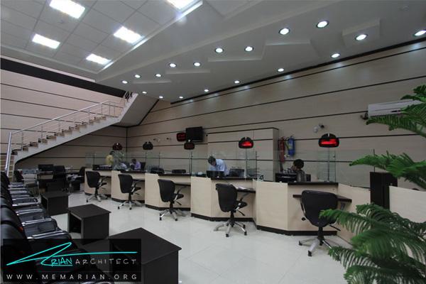 طراحی داخلی شعبه بانک (2)