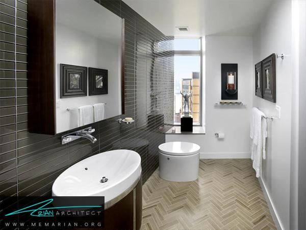 دکوراسیون حمام شیک و کوچک -دکوراسیون حمام لاکچری