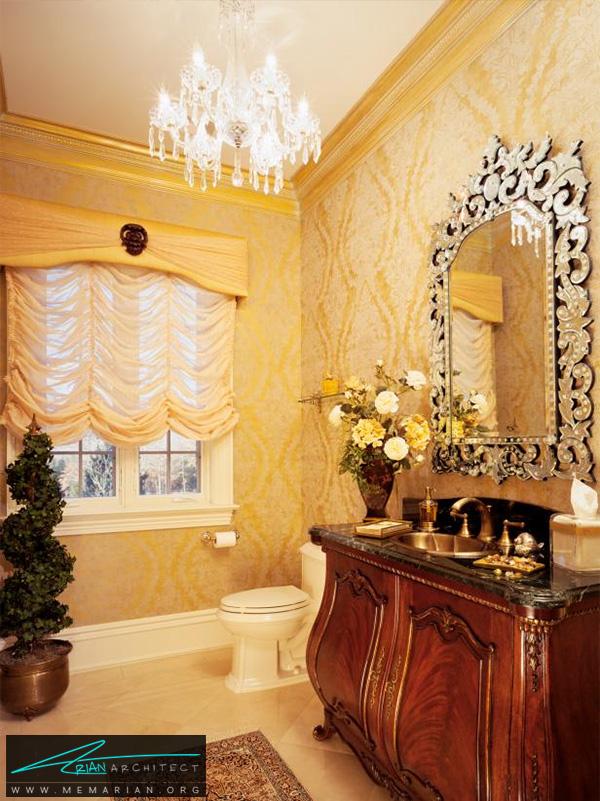 حمام سلطنتی با دکوراسیون شیک و لاکچری -دکوراسیون حمام لاکچری
