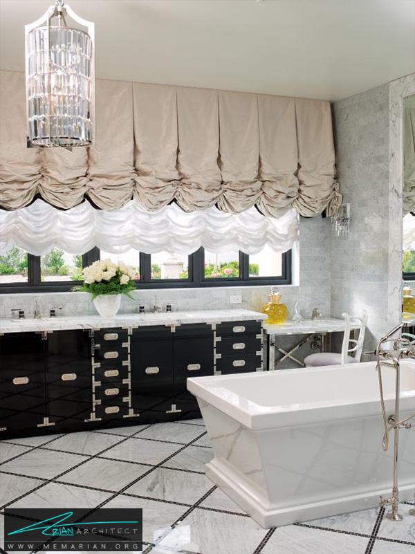 حمام جذاب با دکوراسیونی متفاوت -دکوراسیون حمام لاکچری