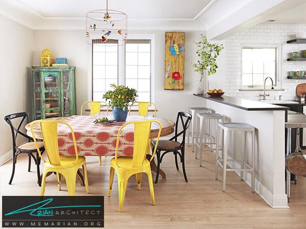 دکوراسیون صمیمی و گرم آشپزخانه -دکوراسیون آشپزخانه لوکس