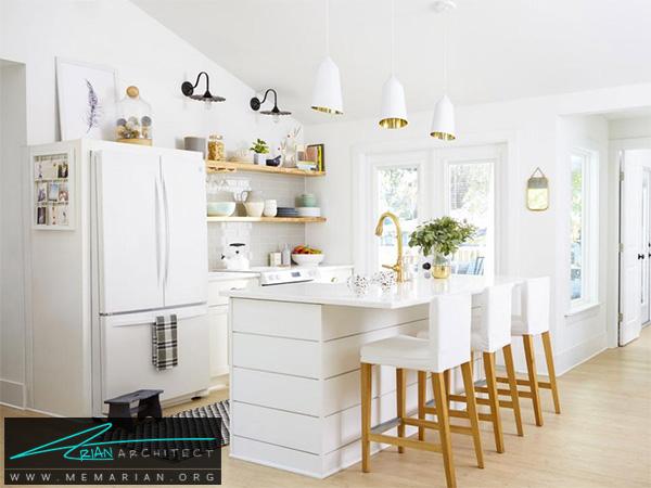دکوراسیون آشپزخانه سفید -دکوراسیون آشپزخانه لوکس