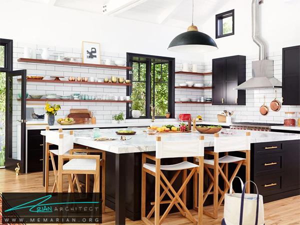 آشپزخانه ای مدرن در کالیفرنیای جنوبی -دکوراسیون آشپزخانه لوکس
