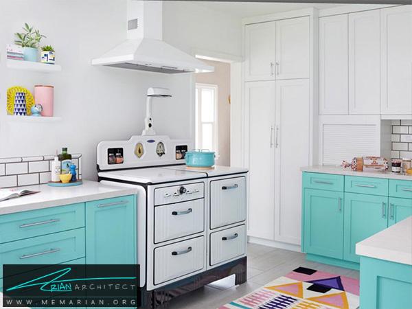 یک آشپزخانه روشن و شاد -دکوراسیون آشپزخانه لوکس