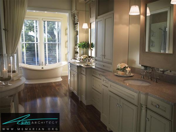 دکوراسیون حمام رمانتیک و مدرن -دکوراسیون حمام مدرن