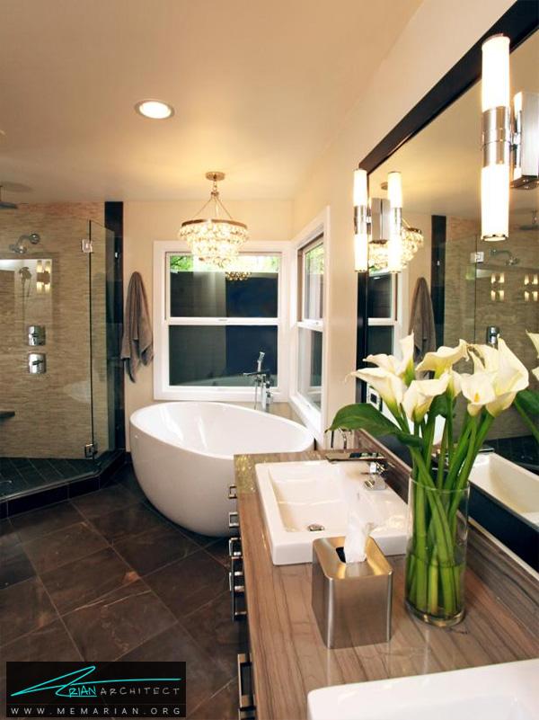 حمام کلاسیک و لاکچری -دکوراسیون حمام مدرن