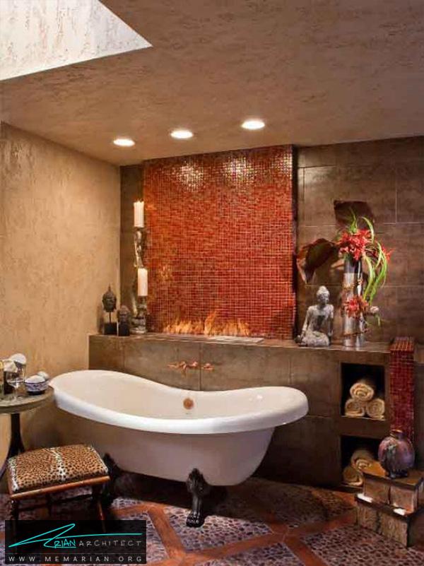 حمام دراماتیک آسیایی -دکوراسیون حمام مدرن