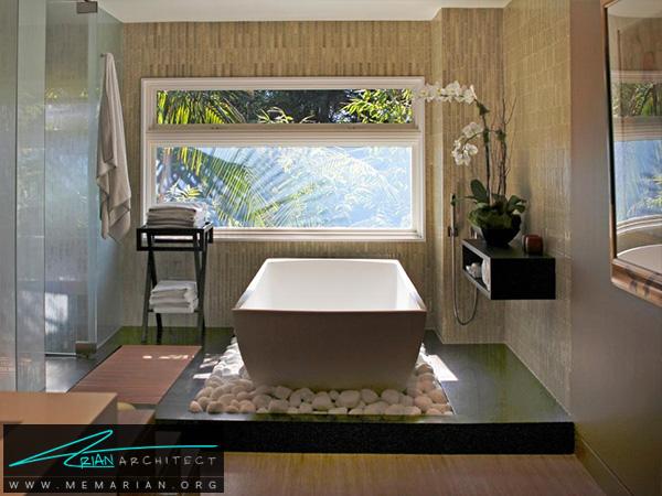 حمام معاصر و لاکچری با نورپردازی عالی -دکوراسیون حمام مدرن