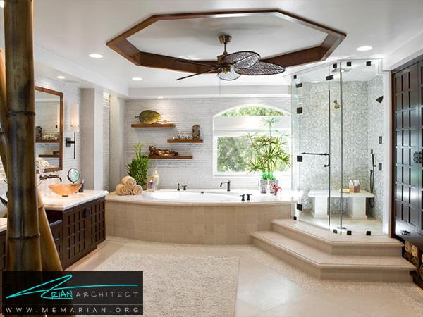 حمام بزرگ و لاکچری -دکوراسیون حمام مدرن