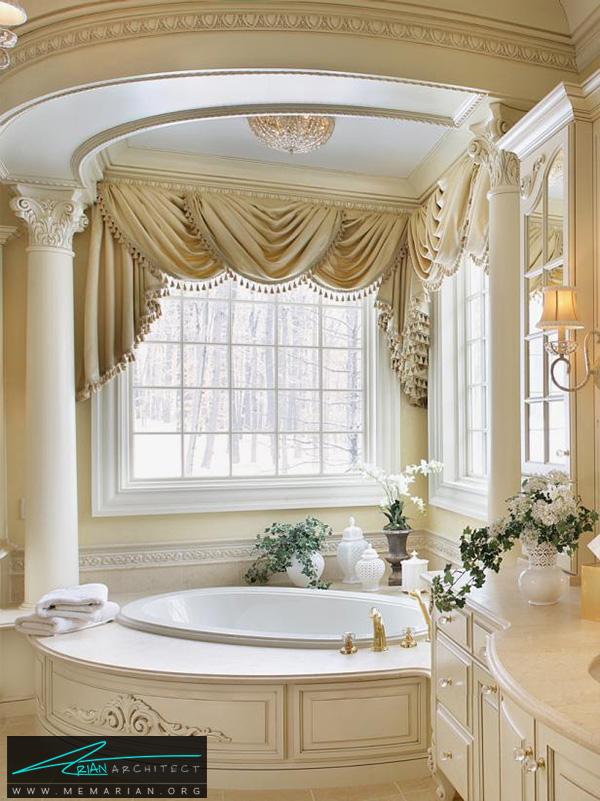 حمام لوکس کلاسیک و سلطنتی -دکوراسیون حمام مدرن