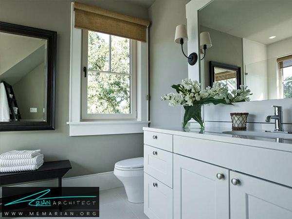 اتاق حمام مهمان با دکوراسیون لاکچری -دکوراسیون حمام لوکس و جدید
