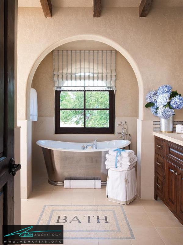 حمام روستایی با دکوراسیون صمیمی -دکوراسیون حمام لوکس و جدید