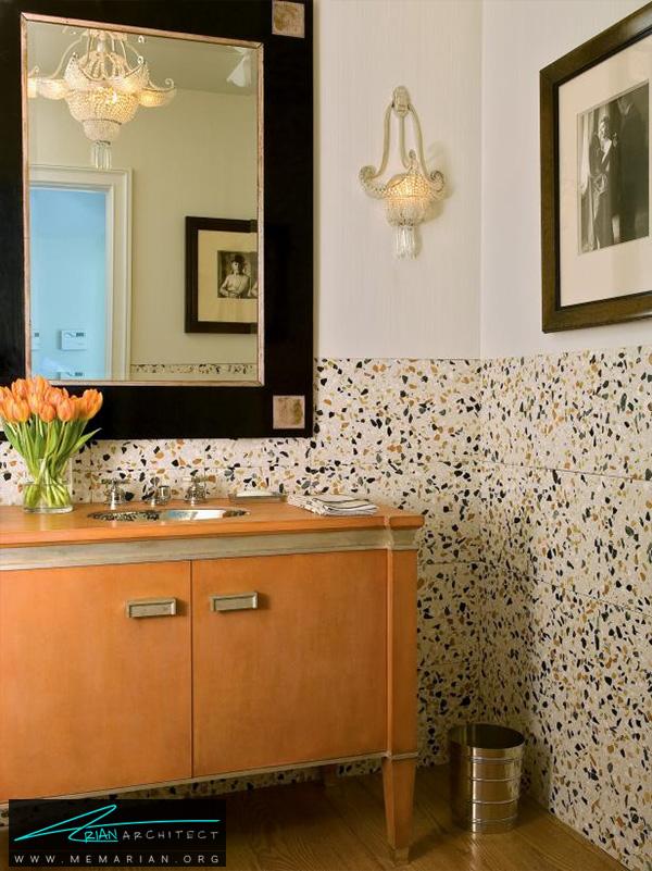 اتاق شست و شو با دکوراسیون معاصر و زیبا -دکوراسیون حمام لوکس و جدید