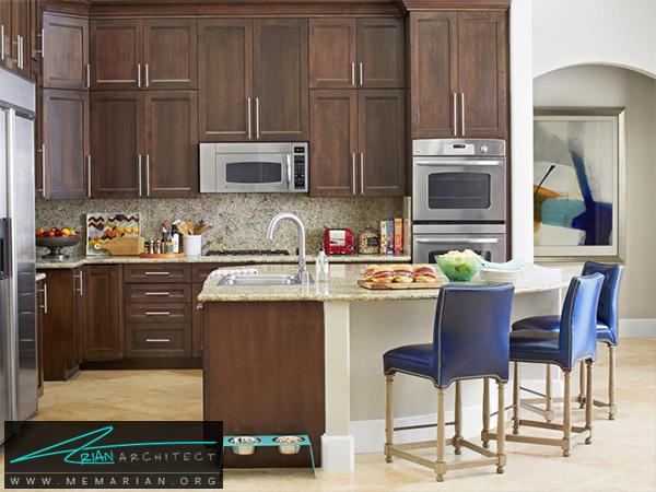 آشپزخانه ای ساده و جادار -دکوراسیون آشپزخانه شیک
