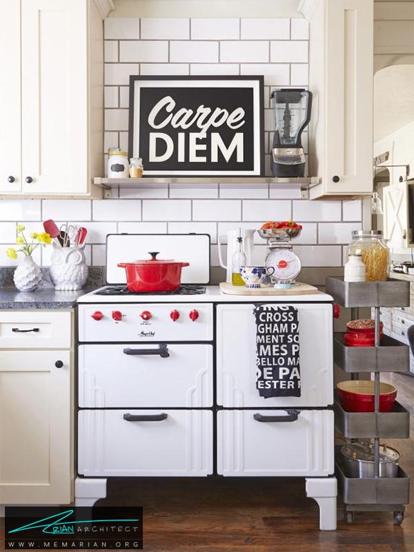 اتاق آشپزخانه متعلق به 1930 -دکوراسیون آشپزخانه شیک
