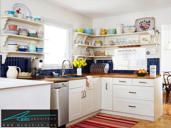 آشپزخانه منظم و دنج با دکوراسیون دلنشین -دکوراسیون آشپزخانه شیک