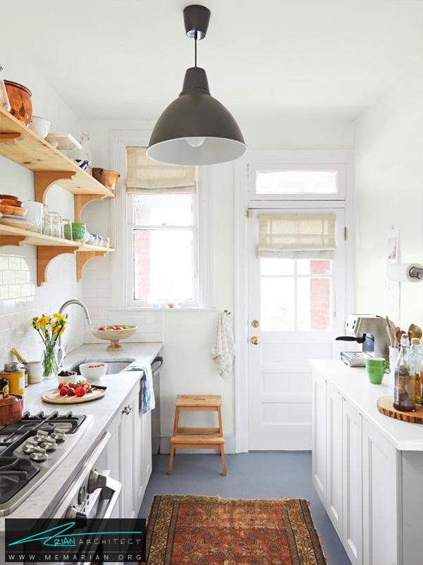 دکوراسیون مدرن و گرم آشپزخانه -دکوراسیون آشپزخانه شیک