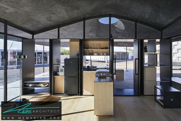 خانه مدرن با دیوار های شیشه ای (1)-نمایشگاه چشم انداز خانه ها در چین 2018