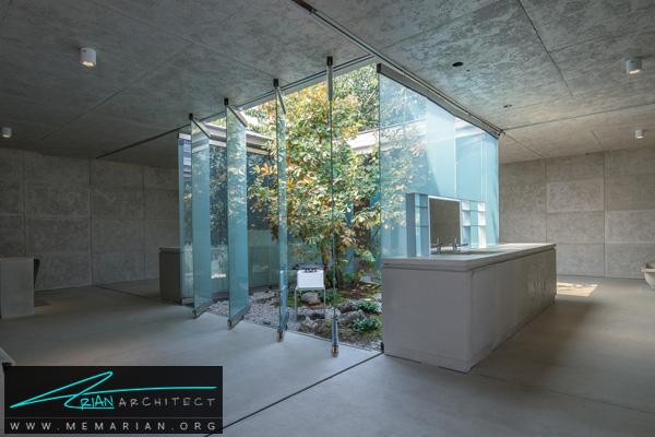 خانه بتنی با حیاطی منحصر به فرد -نمایشگاه چشم انداز خانه ها در چین 2018