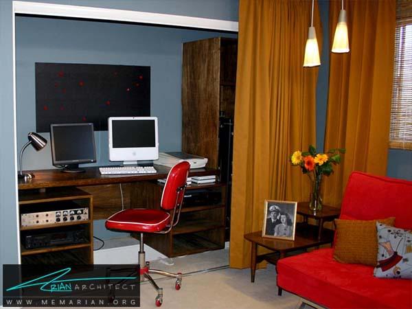 استفاده از میز و قفسه های نگهدارنده -صرفه جویی در هزینه دکوراسیون
