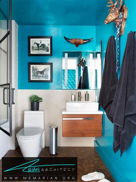 ترکیب رنگ آبی فیروزه ای و سفید -ترکیب رنگ اتاق