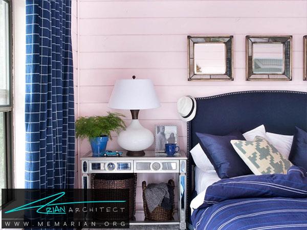 ترکیب رنگ آبی صورتی -ترکیب رنگ اتاق