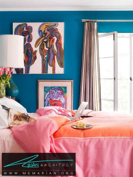 ترکیب رنگ فانتزی و سرد -ترکیب رنگ اتاق