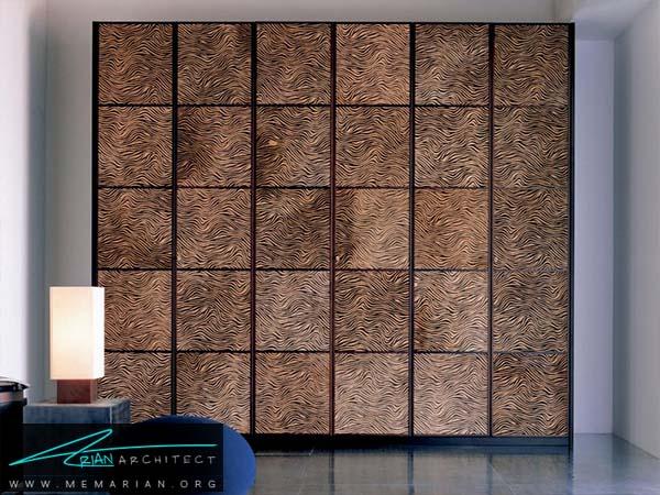 مربع های فلزی روی درب اتاق خواب -دکوراسیون کمد دیواری