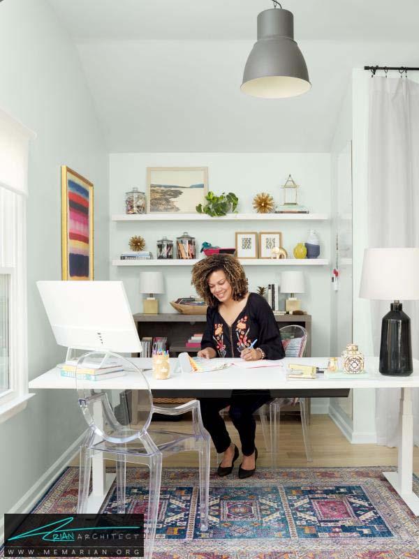 دفتر کار در خانه -دکوراسیون بخش های مختلف خانه