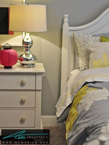 رنگ خاکستری برای دیوار اتاق خواب -دکوراسیون خاکستری