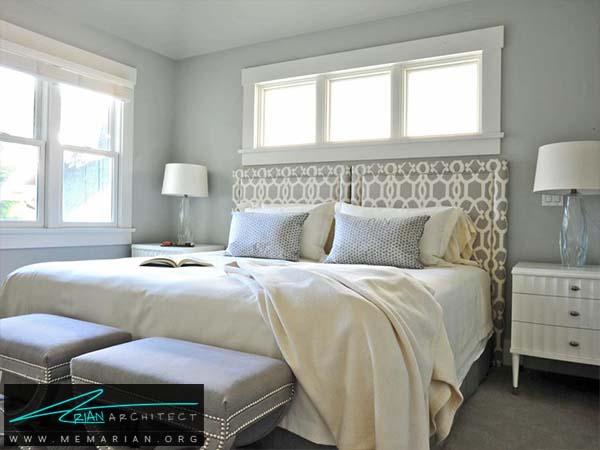 کمال آرامش در اتاقی بادکوراسیون خاکستری -دکوراسیون خاکستری
