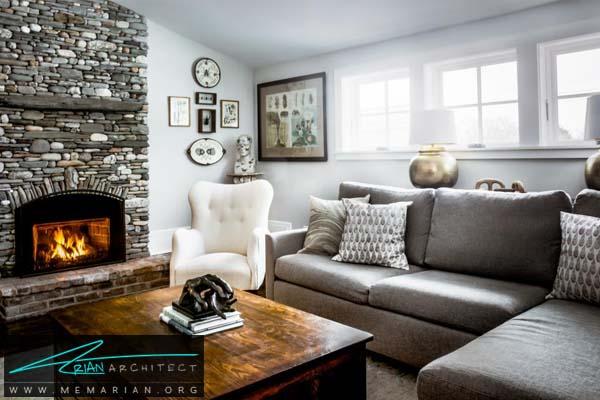 مبلمان خاکستری راحتی -مبلمان خانگی جدید