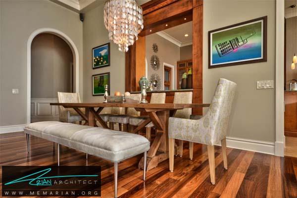 صندلی های راحتی در کنار میز دورهمی -مبلمان خانگی جدید