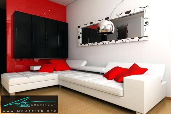 ترکیب رنگ سفید قرمز در خانه - کاربرد رنگ قرمز در دکوراسیون