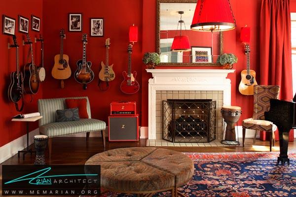 تأثیرات کاربرد رنگ قرمز در دکوراسیون خانه - کاربرد رنگ قرمز در دکوراسیون