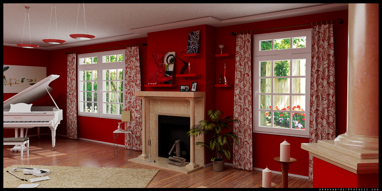 اصول کاربرد رنگ قرمز در دکوراسیون داخلی منزل