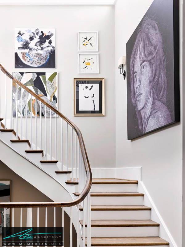 گالری هنری در راه پله خانه شما -تزیین دکوراسیون راه پله