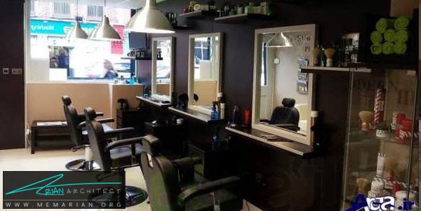 طراحی داخلی مغازه آرایشگاه (5) - دکوراسیون آرایشگاه مردانه