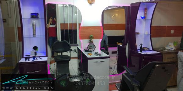 طراحی داخلی مغازه آرایشگاه (1) - دکوراسیون آرایشگاه مردانه