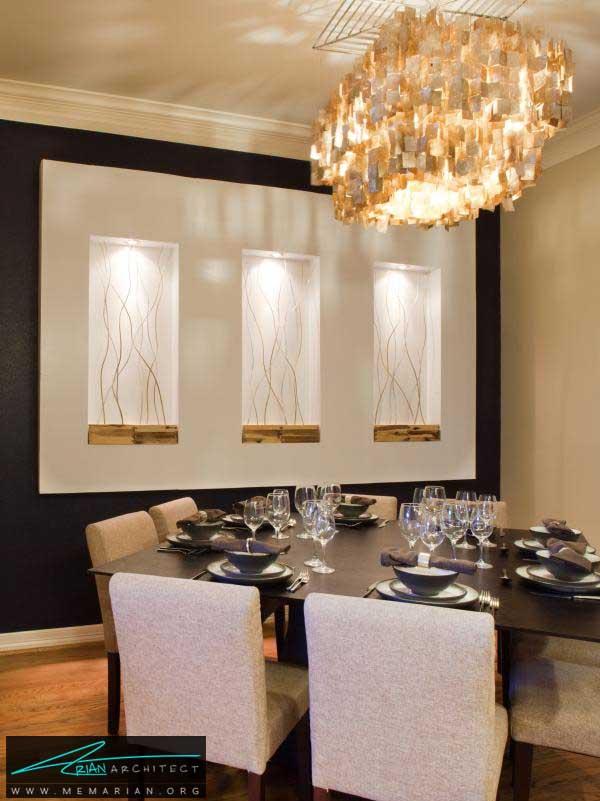 نورپردازی منحصر به فرد و زیبا -دکوراسیون اتاق غذاخوری