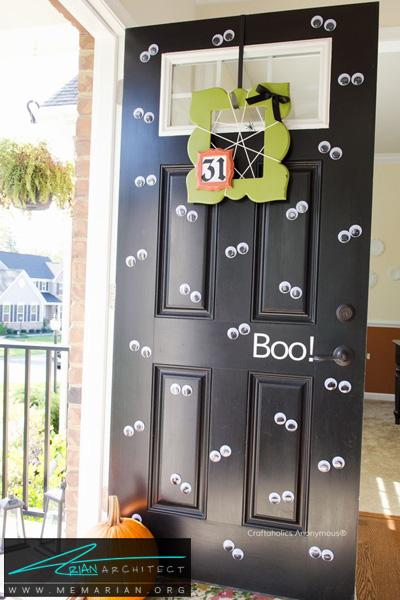 مراقب چشم های روی درب باشید -دکوراسیون هالووین