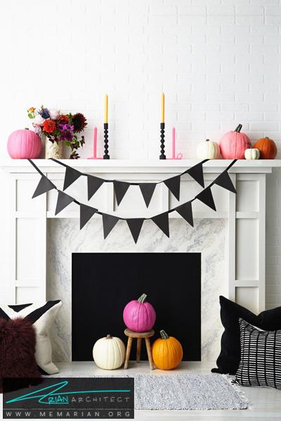 ایده ساده برای چیدماندکوراسیون هالووین -دکوراسیون هالووین