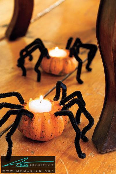 کدو تنبل های عنکبوتی -دکوراسیون هالووین