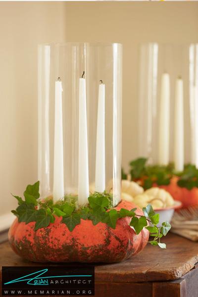 کدو تنبل های نگهداره شمع -دکوراسیون هالووین
