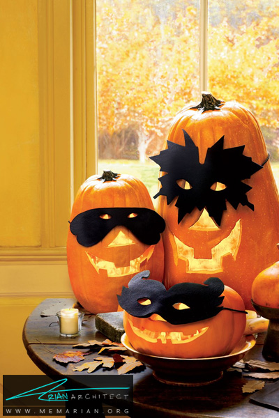 کدو تنبل نقاب زده -دکوراسیون هالووین